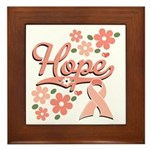 Hope Pink Ribbon Framed Tile