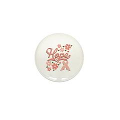 Hope Pink Ribbon Mini Button (100 pack)