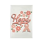 Hope Pink Ribbon Rectangle Magnet (100 pack)