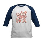 Peace Love Microbiology Kids Baseball Jersey