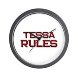 tessa rules Wall Clock