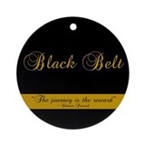 Black Belt Journey Ornament (Round)