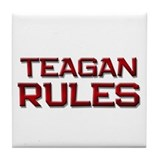 teagan rules Tile Coaster