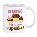 Nurse Gift Cupcakes Small Mugs