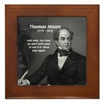 Irish Poet: Thomas Moore Framed Tile