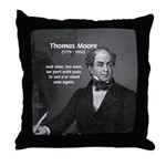 Irish Poet: Thomas Moore Throw Pillow