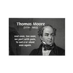 Irish Poet: Thomas Moore Rectangle Magnet (100 pac