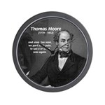 Irish Poet: Thomas Moore Wall Clock