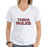 tasha rules Women's V-Neck T-Shirt