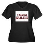 tasha rules Women's Plus Size V-Neck Dark T-Shirt
