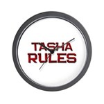 tasha rules Wall Clock