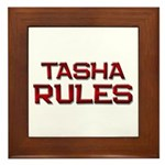 tasha rules Framed Tile