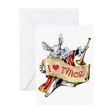 I LOVE ALICE - PINK EYES Greeting Card