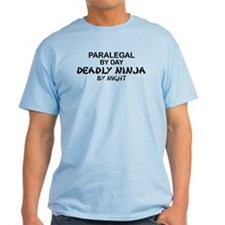Paralegal Deadly Ninja by Night T-Shirt