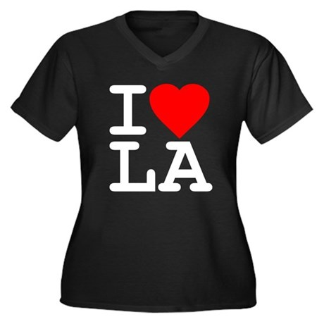 I Love LA Plus Size V-Neck Shirt