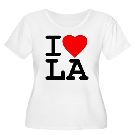 I Love LA Plus Size Scoop Neck Shirt