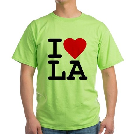 I Love LA Green T-Shirt