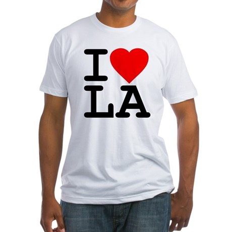 I Love LA Fitted T-Shirt