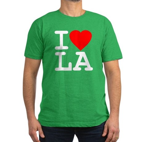 I Love LA Mens Fitted Dark T-Shirt