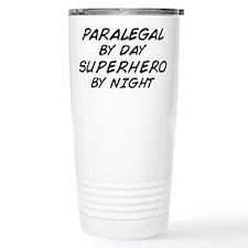 Paralegal Superhero by Night Ceramic Travel Mug