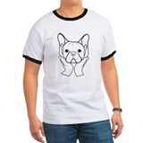 French Bulldog Head in Hands T