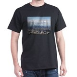Hollywood and LA skyline Black T-Shirt