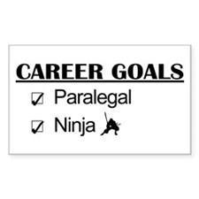 Paralegal Ninja Career Goals Rectangle Decal