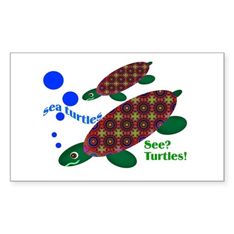 See? Turtles! Rectangle Sticker