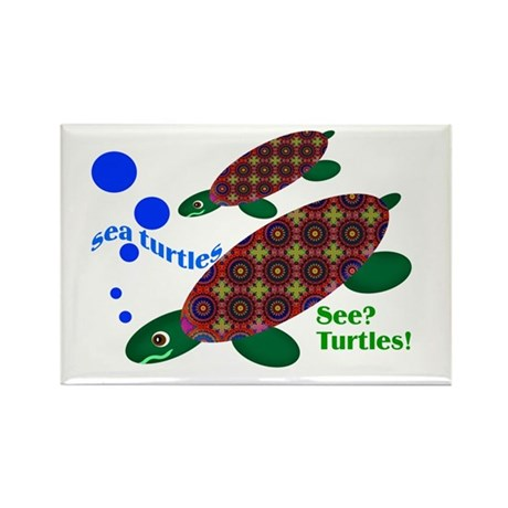 See? Turtles! Rectangle Magnet