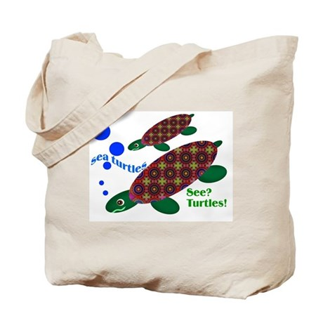 See? Turtles! Tote Bag