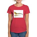 Yellow Golden Pheasant Women's Dark T-Shirt
