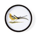 Yellow Golden Pheasant Wall Clock