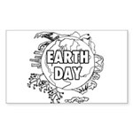Earth Day 2011 Sticker (Rectangle)