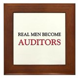 Real Men Become Auditors Framed Tile