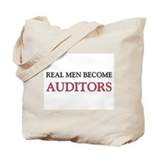 Real Men Become Auditors Tote Bag