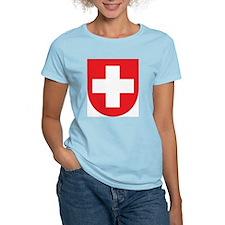 Switzerland Coat Of Arms Women's Pink T-Shirt