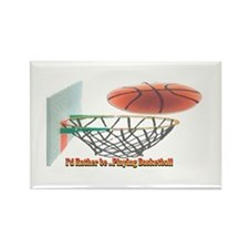 IRB Playing Basketball Rectangle Magnet