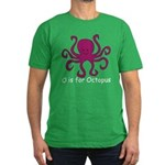 O is for Octopus Men's Fitted T-Shirt (dark)