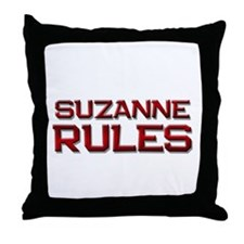 suzanne rules Throw Pillow