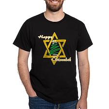 Happy Chrismukah Black T-Shirt