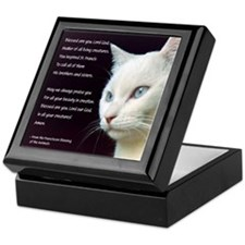 White Cat Blessing Keepsake Box