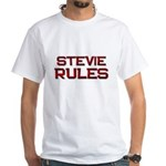 stevie rules White T-Shirt