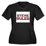 stevie rules Women's Plus Size V-Neck Dark T-Shirt