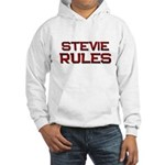 stevie rules Hooded Sweatshirt