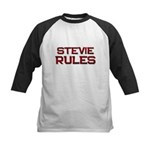 stevie rules Kids Baseball Jersey