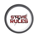stevie rules Wall Clock