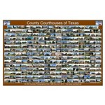 County Courthouses of Tex Horizontal Brown Poster