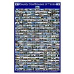 County Courthouses of Texas Large Blue Poster