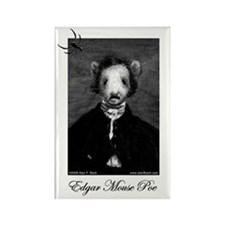 Edgar Mouse Poe Rectangle Magnet (10 pack)