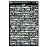 County Courthouses of Texas Large Black Poster